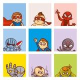 超级英雄海报集合 免版税库存图片
