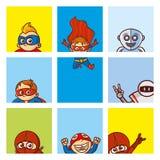 超级英雄海报集合 库存图片