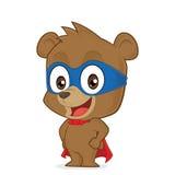 超级英雄熊 库存图片