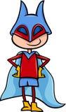 超级英雄男孩动画片例证 库存照片