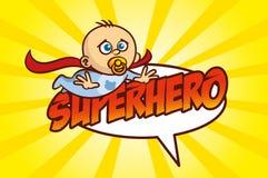超级英雄男婴 库存图片