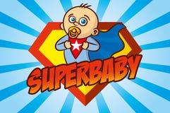 超级英雄男婴 免版税库存图片
