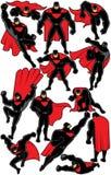 超级英雄设置了2 免版税图库摄影