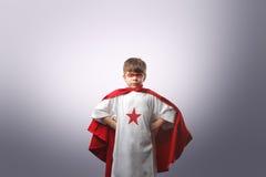 超级英雄年轻人 库存照片