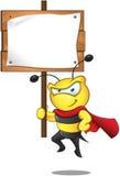 超级蜂-藏品符号 免版税库存图片