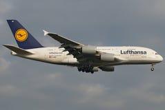 超级超大的汉莎航空公司 库存图片