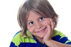 超级逗人喜爱的孩子 免版税图库摄影