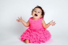超级逗人喜爱的婴孩惊奇 免版税库存图片