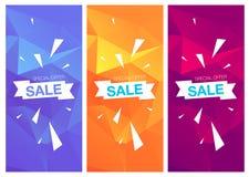 超级销售特价优待垂直横幅 免版税库存照片