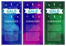 超级销售特价优待垂直横幅 免版税库存图片