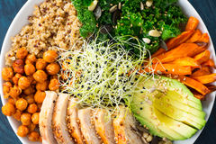 超级食物菩萨碗 免版税库存图片