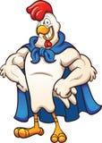 超级鸡 向量例证