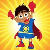 超级黑人男孩的英雄 库存照片