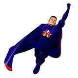 超级3蓝色的英雄 免版税图库摄影