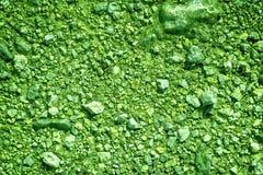 超绿色地面在火星,土地纹理,沙子表面,石背景喜欢 图库摄影
