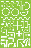 超过Infographics的30个箭头 免版税库存图片