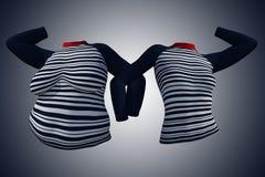 超重肥胖女性女衬衫成套装备对亭亭玉立的适合的身体健康 皇族释放例证
