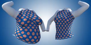 超重肥胖女性女衬衫成套装备对亭亭玉立的适合的身体健康 库存例证