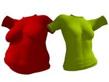 超重肥胖女性T恤杉成套装备对亭亭玉立的适合的身体健康 向量例证