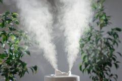 超音波润湿器在房子里 增湿 免版税库存图片