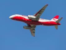 超音速喷气飞机100-95B 免版税库存照片