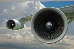 超音速引擎的喷气机 图库摄影