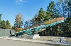 超音速战斗轰炸机SU-17 m2 库存照片