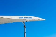 超音速的协和飞机 图库摄影
