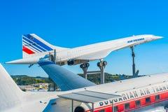 超音速的协和飞机 免版税库存照片