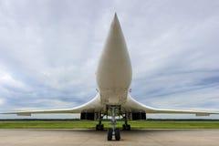 超音速轰炸机的喷气机 免版税库存图片
