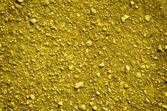 超黄色地面纹理,沙子表面,石背景,有益于设计元素 免版税图库摄影