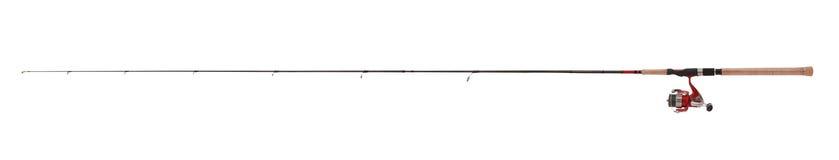 超轻的钓鱼竿,卷轴,实际尺寸 免版税图库摄影