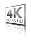 超4K HD透视发光的黑商标 免版税库存图片