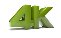 超HD 4K 免版税库存照片