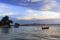 越共Amat海滩晚上。 免版税库存图片