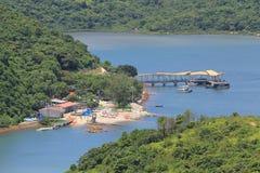 越共Shek在sai kung国家公园的自然viw 免版税库存图片