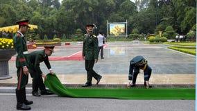 越南为欢迎仪式做准备 免版税库存图片