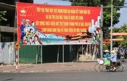 越南人在颜色的祖国阵线海报,越南 免版税库存图片