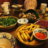 越南传统膳食 库存照片