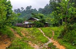 越南农厂小屋 免版税库存照片