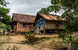 越南农厂村庄住房 免版税库存图片