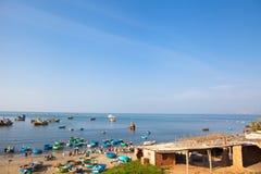 越南和美国金奈渔村市场 免版税库存图片