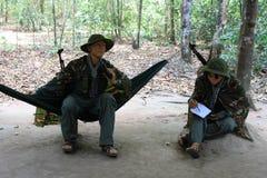 越南士兵时装模特  图库摄影