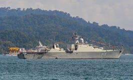 越南大型驱逐舰李公蕴HQ-012 免版税库存图片