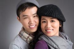 年轻越南夫妇 免版税图库摄影