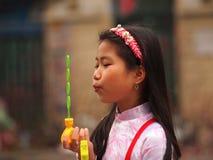 越南女孩 免版税图库摄影