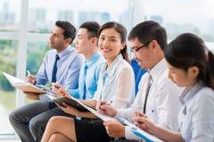 越南女实业家 免版税库存照片