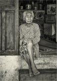 越南妇女在芽庄市 库存照片