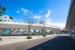 越南岘港国际机场罐车 库存图片