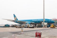 越南岘港机场柏油碎石地面 免版税库存照片